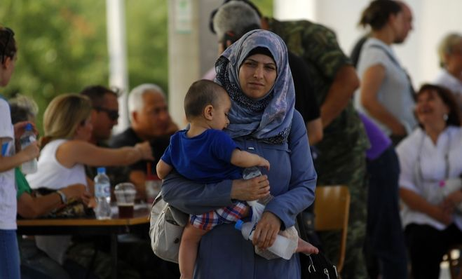 Φωτό αρχείου: Άφιξη προσφύγων στην ανοιχτή δομή φιλοξενίας των Τρικάλων