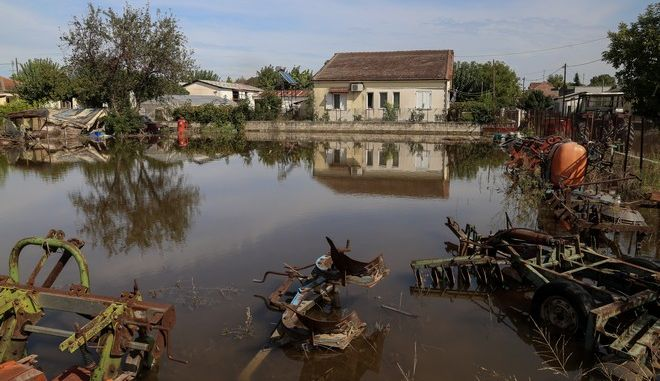 """Καταστροφές από την κακοκαιρία """"Ιανός"""" στα Καλογριανά Καρδίτσας"""