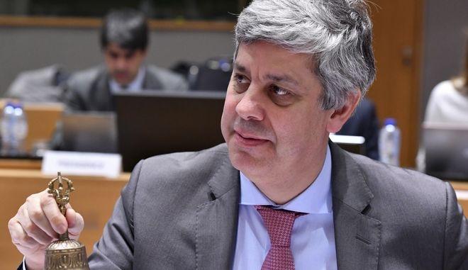 O πρόεδρος του Eurogroup, Μάριο Σεντένο