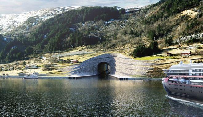 Βίντεο: Η Νορβηγία κατασκευάζει το πρώτο παγκοσμίως, τούνελ για πλοία
