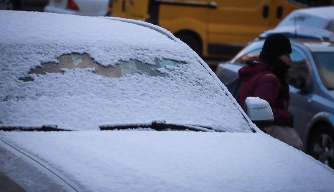 Χιονόπτωση στη Νέα Σμύρνη - φωτό αρχείου
