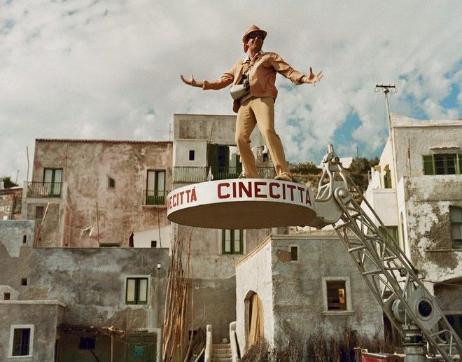 Σκηνή από γυρίσματα, στη Νάπολη - Αύγουστος 1965