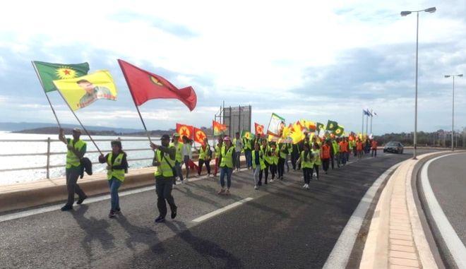 Η πορεία των Κούρδων της Αθήνας από το Λαύριο στην τουρκική πρεσβεία
