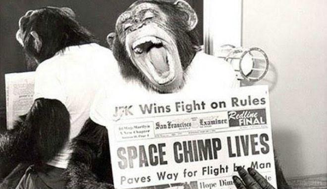 Mία εικόνα 1000 λέξεις: HAM, o 1ος κατακτητής του διαστήματος