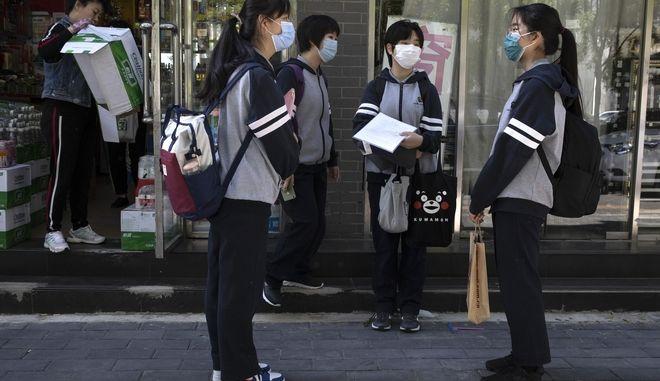 Μαθητές στην Κίνα.