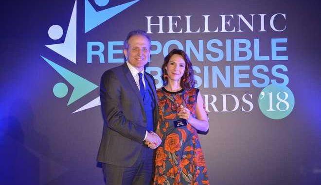 Βράβευση της Εθνικής Ασφαλιστικής στα Hellenic Responsible Business Awards 2018