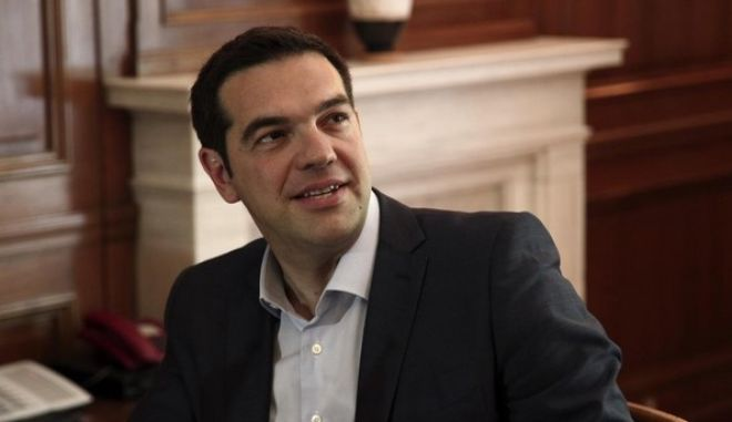 Meeting between Greek PM Alexis Tsipras and  minister of Defence and Military Production of Egypt Sedki Sobhi, at Maximos Mansion, in Athens, on June 12, 2015 /               ,  12 , 2015