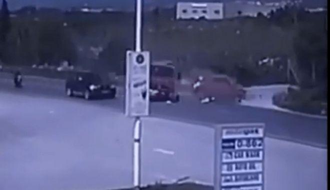 Το τροχαίο με το πυροσβεστικό όχημα στο Ηράκλειο
