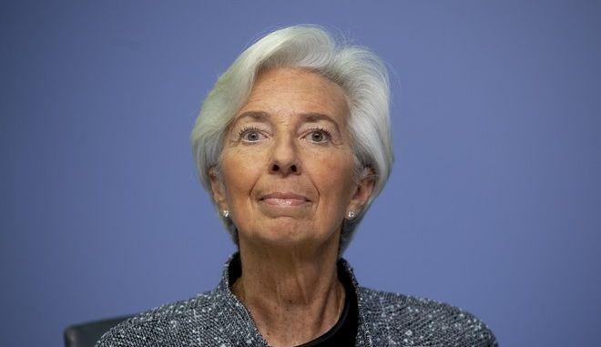 Η πρόεδρος της Ευρωπαϊκής Κεντρικής Τράπεζας Κριστίν Λαγκάρντ