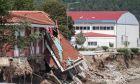"""Η επόμενη ημέρα των καταστροφών από την κακοκαιρία """"Ιανός"""" που προκάλεσε την υπερχείλιση του Πάμισου ποταμού στο Μουζάκι Καρδίτσας."""