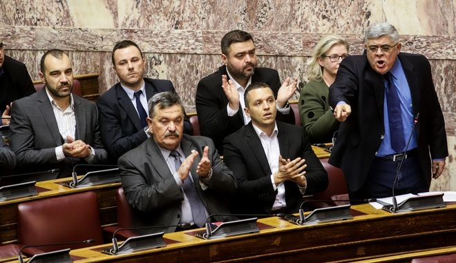 Η Κ.Ο. της Χ.Α. στη Βουλή, πριν τις εκλογές που έμεινε εκτός κοινοβουλίου