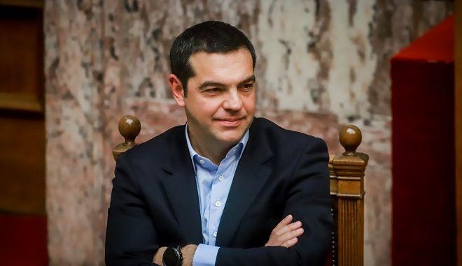 Φωτό αρχείου, ο Αλέξης Τσίπρας στη Βουλή