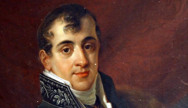 Το πορτραίτο του Ιωάννη Καποδίστρια, έργο φλαμανδού ζωγράφου.