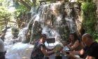 Εικόνα από το εστιατόριο στους καταρράκτες στην Κροατία