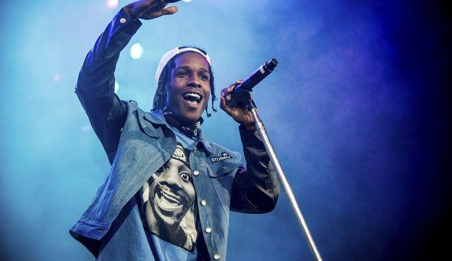 Ο ASAP Rocky σε συναυλία του