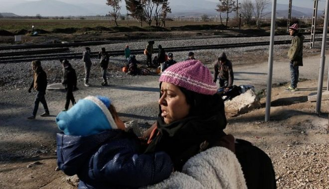 The authorities of F.Y.R. of Macedonia open again the borders after two days for refugees whose official notes indicate as final destination the Germany or Austria. Idomeni Greece on January 21, 2016. /                           .   21  2016.