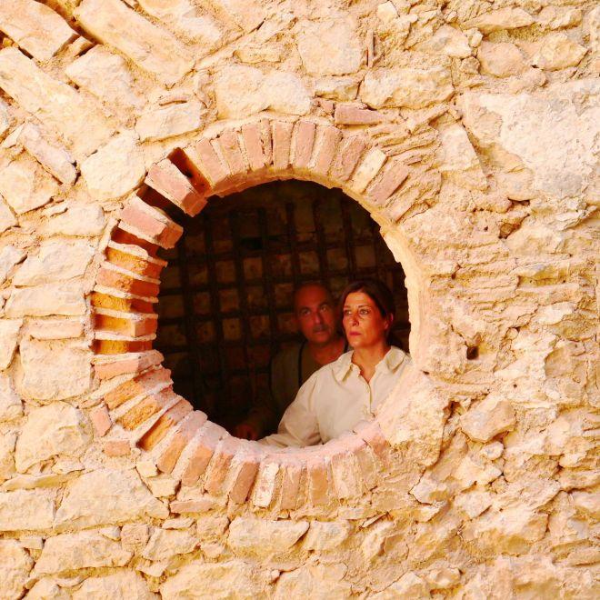 Γιασεμί Κηλαηδόνη και Γιώργος Γιαννακάκος στον προμαχώνα του Αγίου Αντρέα στο Παλαμήδι