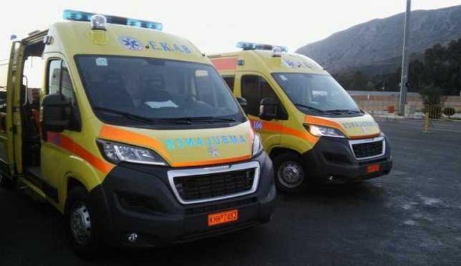Κρήτη: Με τέσσερα υπερσύγχρονα ασθενοφόρα ενισχύθηκε το ΕΚΑΒ