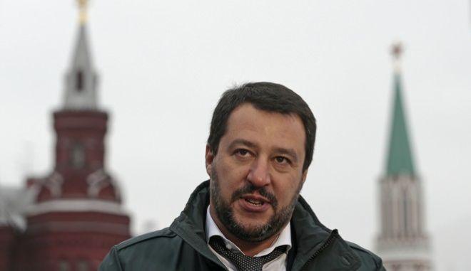 O επικεφαλής της ακροδεξιάς Λέγκας, Ματέο Σαλβίνι