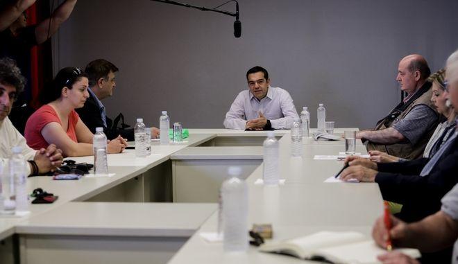 Συνάντηση του Προέδρου του ΣΥΡΙΖΑ Αλέξη Τσίπρα με αντιπροσωπεία της ΟΛΜΕ.