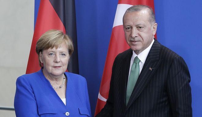 Άνγκελα Μέρκελ και Ερντογάν