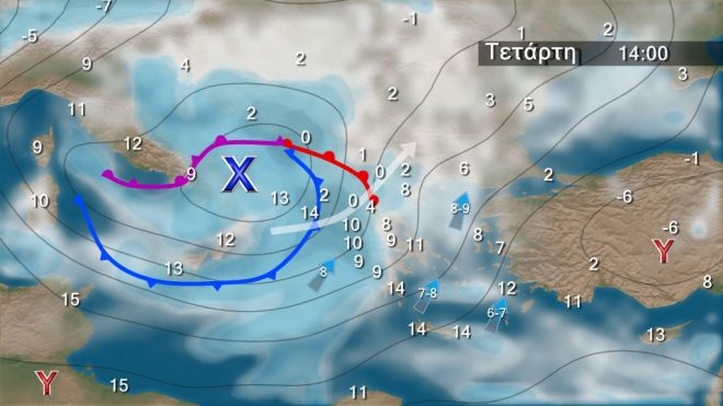 Χιόνια και κρύο σήμερα - Νέο κύμα με βροχές από Τετάρτη