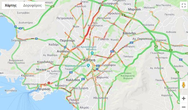 Κίνηση στην Αθήνα - Πού εντοπίζονται προβλήματα