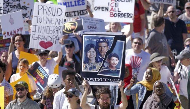 Μεγάλες διαδηλώσεις στις ΗΠΑ