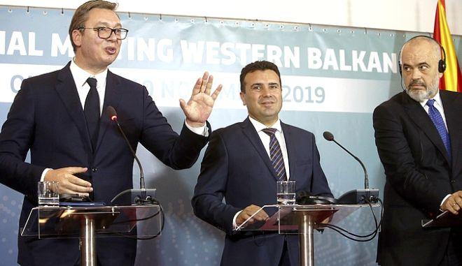Οι ηγέτες της Βόρειας Μακεδονίας, της Σερβίας και της Αλβανίας σε κοινές τους δηλώσεις