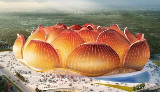 Κίνα: Το μεγαλύτερο, υπό κατασκευή, γήπεδο ποδοσφαίριου