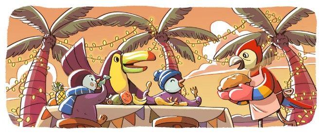 Στην Πρωτοχρονιά αφιερωμένο το σημερινό doodle της Google