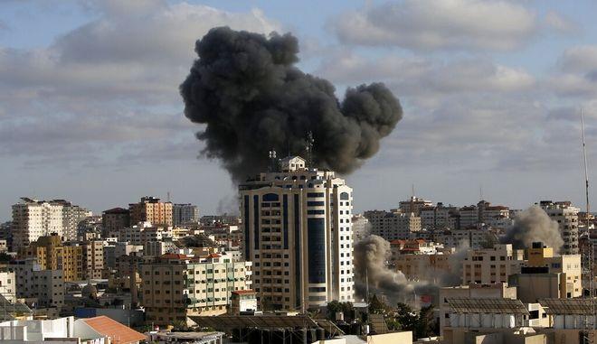 Ισραηλινοί βομβαρδισμοί στη Γάζα.