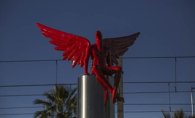 Το άγαλμα Phylax στο Παλαιό Φάληρο