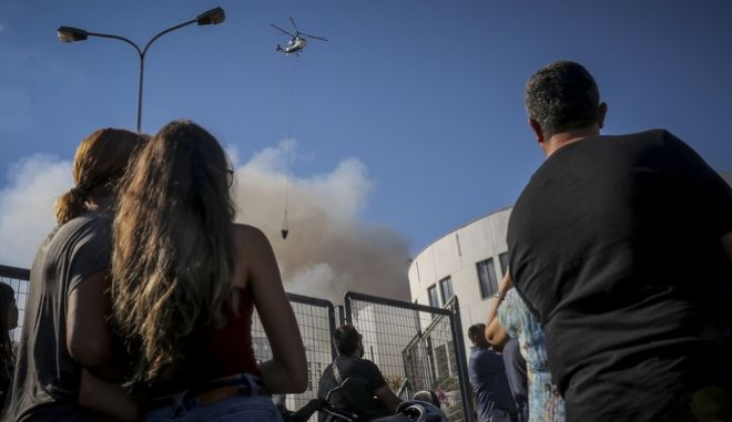 Πυρκαγιά στα κτίρια του Πανεπιστημίου Κρήτης στην περιοχή της Λεωφ. Κνωσού, στο Ηράκλειο την Κυριακή 23 Σεπτεμβρίου 2018