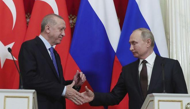 Οι πρόεδροι Ρωσίας και Τουρκίας