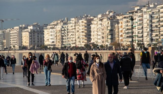 Εικόνα από τη Θεσσαλονίκη σε καιρό κορονοϊού