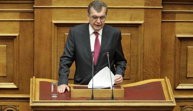 Ο Δημήτρης Κρεμαστινός στη Βουλή