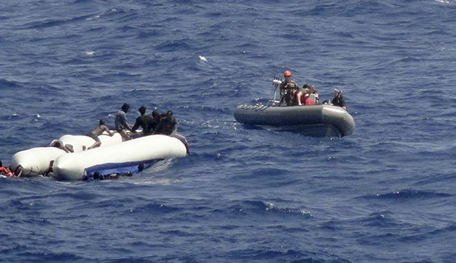 Επιχείρηση για τον εντοπισμό μεταναστών στη θάλασσα. Φωτο αρχείου.