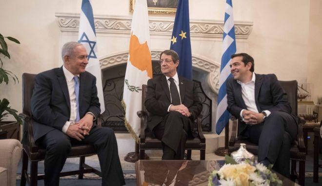 4η Τριμερής Σύνοδος Κορυφής Ελλάδας-Κύπρου-Ισραήλ, που πραγματοποιεΙθηκε στην πρωτεύουσα της Κυπριακής Δημοκρατίας