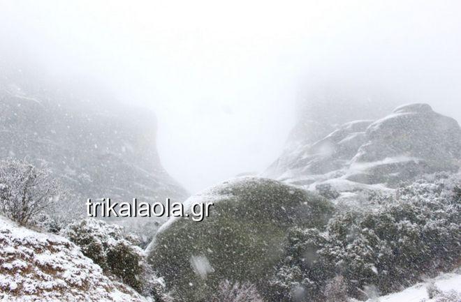 Χιονόπτωση στα Τρίκαλα