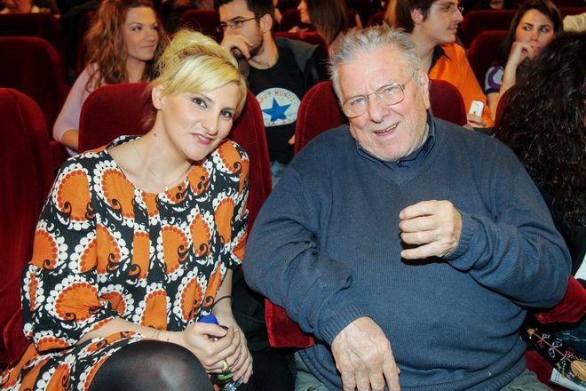 Ο ηθοποιός Κώστας Βουτσάς με την κόρη του Θεοδώρα Βουτσά