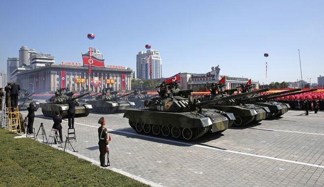 Στρατιωτική παρέλαση στην Βόρεια Κορέα
