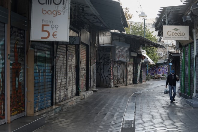 Άδεια η Αθήνα την πρώτη μέρα του δεύτερου lockdown