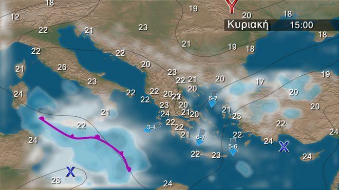 Ενισχυμένοι βοριάδες στο Αιγαίο - Τοπικές νεφώσεις