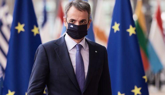 Ο Έλληνας πρωθυπουργός, Κυριάκος Μητσοτάκης, στη Σύνοδο Κορυφής της ΕΕ