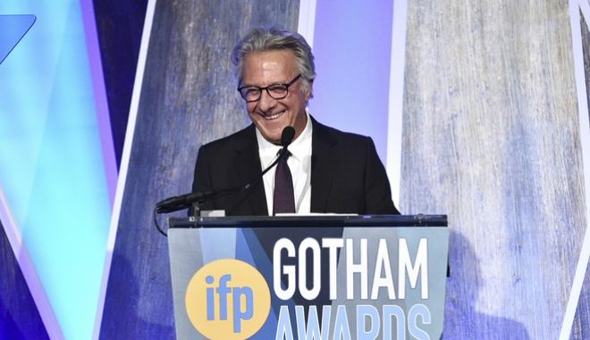 Actor Dustin Hoffman accepts the tribute award at the 27th annual Independent Film Project's Gotham Awards at Cipriani Wall Street on Monday, Nov. 27, 2017, in New York. (Photo by Evan Agostini/Invision/AP)