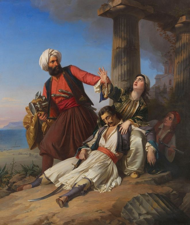 2CNPD3P Scene from the Greek War of Independence, 1841. Private Collection.