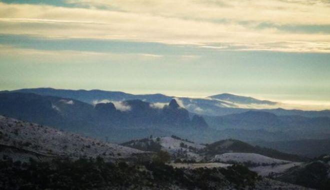 Χιόνια στην περιοχή Ασπροπόταμος στα Τρίκαλα