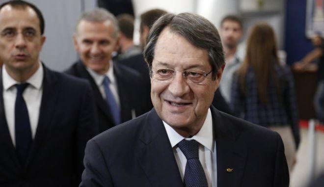 Εκδήλωση της Πανελλήνιας Επιτροπής Συγγενών Αδηλώτων και Αιχμαλώτων από την τουρκική εισβολή του 1974 την Δευτέρα 10 Οκτωβρίου 2016, παρουσία του Προέδρου της Κυπριακής Δημοκρατίας, ΝίκουΑναστασιάδη και του Πρόεδρου της Ελληνικής Δημοκρατίας, Προκόπη Παυλόπουλου.  (EUROKINISSI/ΣΤΕΛΙΟΣ ΜΙΣΙΝΑΣ)