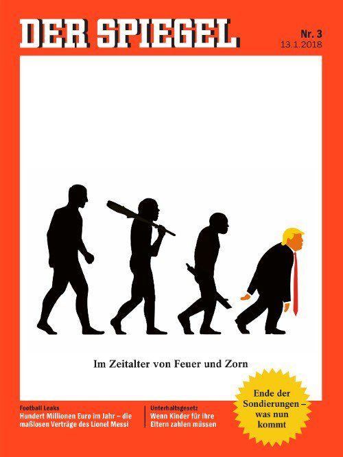 Το Der Spiegel παρομοιάζει τον Τραμπ με τον άνθρωπο του Νεάντερνταλ